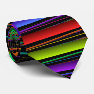 Primary Colors Striped Neck Tie