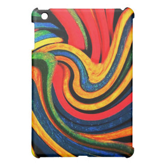 Primary Colors Swirl iPad Case