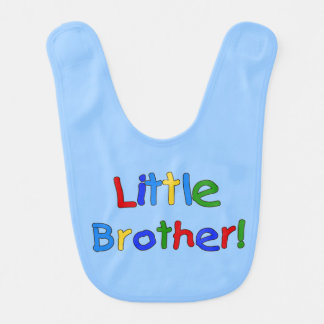 Primary Colors Text Little Brother Bib