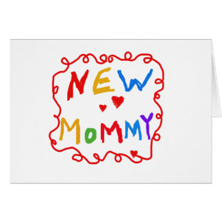 Primary Colors Text New Mommy   Card
