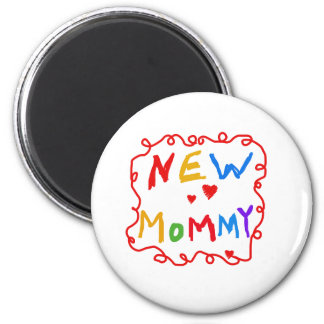 Primary Colors Text New Mommy   Magnet