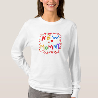Primary Colors Text New Mommy T-Shirt