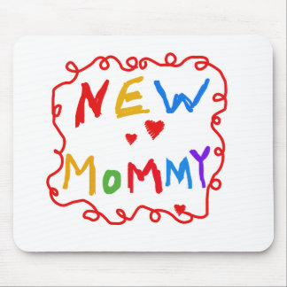 Primary Colors Text New Mommy  Tshirts Mouse Pad