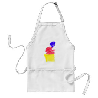 Primary Colors Watercolor Adult Apron