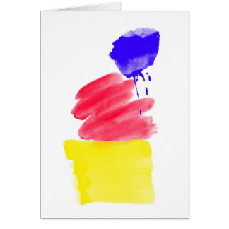 Primary Colors Watercolor Card