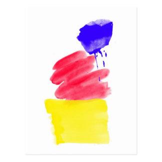 Primary Colors Watercolor Postcard