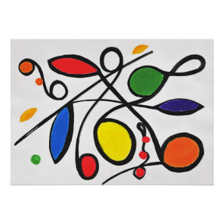 Primary Colours Abstract Poster