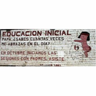 Primary education poster (mural) Batopilas, Mexico Cutout