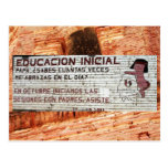Primary education poster (mural) Batopilas, Mexico Post Card
