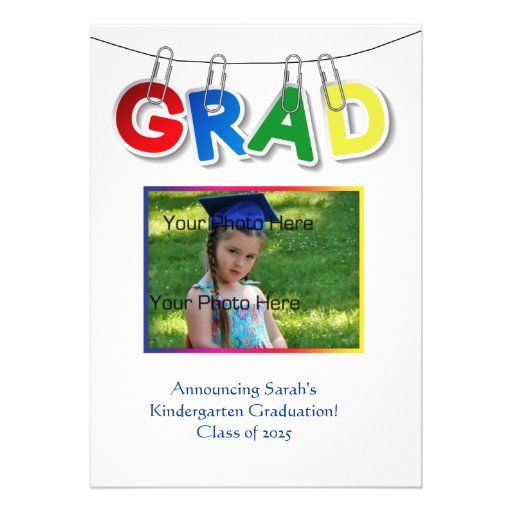 Primary Grad Text Photo Cards