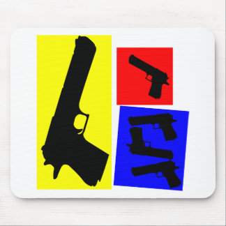 Primary Pistol Motion Mouse Pad