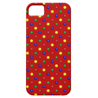 Primary Polka Dots, Red-iPhone 5/5s Case iPhone 5 Cases