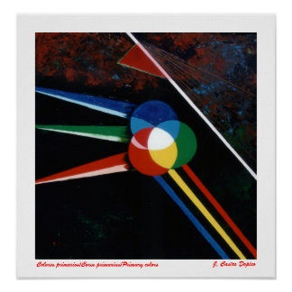 Primary primary colors/Cores/Primary colors Poster