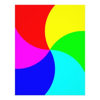 Primary Rainbow Spiral Flyer