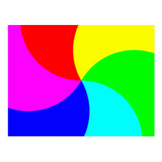 Primary Rainbow Spiral Post Cards