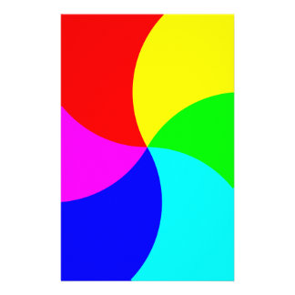 Primary Rainbow Spiral Stationery Paper