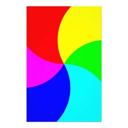 Primary Rainbow Spiral Stationery