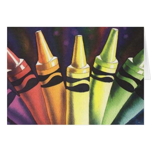 """""""Primary Reasoning"""" Watercolor Crayon Art Cards"""