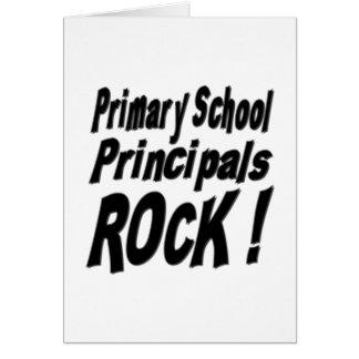 Primary School Principals Rock! Greeting Card