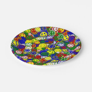 Primary Smiley Face Beads,GREEN-PAPER PLATES