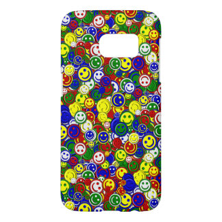 Primary Smiley Face Beads-RED-Samsung s7 Case
