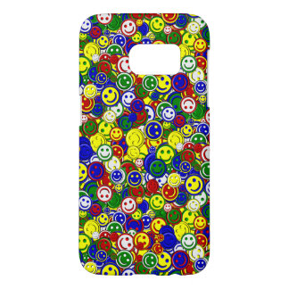 Primary Smiley Face Beads-YELLOW-Samsung s7 Case