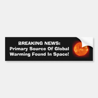 Primary Source Of Global Warming Car Bumper Sticker