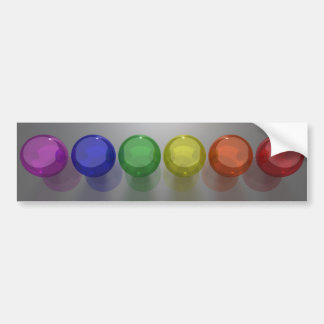 Primary Spheres Bumper Sticker