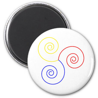 Primary Spiral of Life 2 Inch Round Magnet