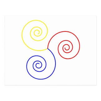 Primary Spiral of Life Postcard
