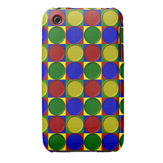 Primary Squares Inverted Dots-iPhone 3g/3gs Case