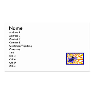 Primary Surfer Framed Double-Sided Standard Business Cards (Pack Of 100)