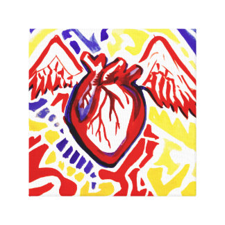 Primary Triad Heart Beats Canvas Print