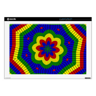 """PrimaryColors Roll Flower 1-Laptop Skin 17in Skin For 17"""" Laptop"""