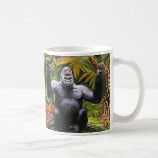 Primate del vintage, selva del gorila de la tierra taza