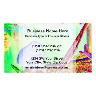 Primate eating greens on edge of land neon invert. business card templates