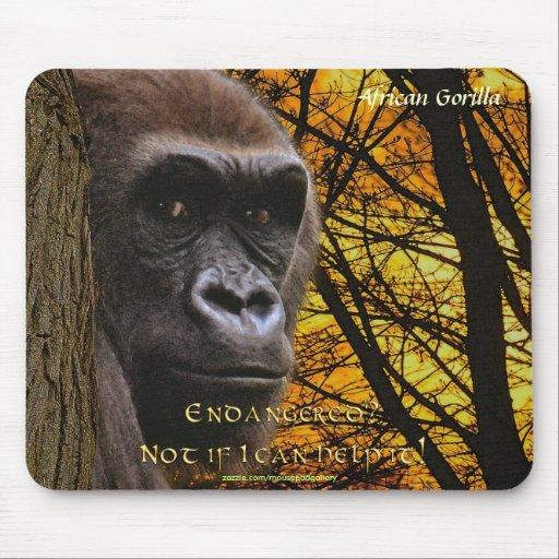Primate en peligro gorila salvaje Mousepad de la e Alfombrilla De Ratón