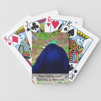 primate from the back blue green animal bicycle playing cards