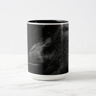 Primate hermoso del gorila taza de café de dos colores