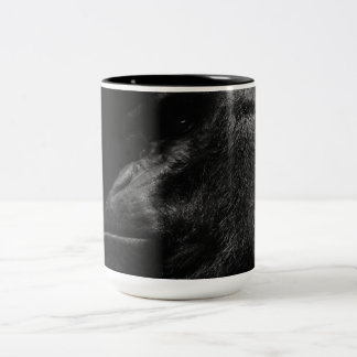 Primate hermoso del gorila taza de dos tonos