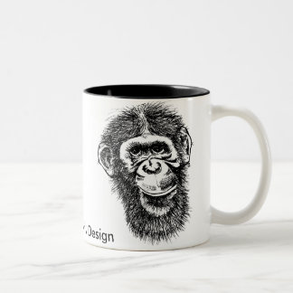 Primate, Jon Griffin Art & Design Two-Tone Coffee Mug