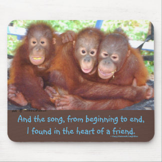 Primates Value  Friendship: 3's not a crowd Mouse Pad