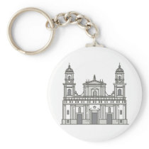 Primatial Cathedral of Bogota World landmark Keychain