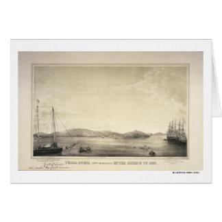 Primavera 1837 de Yerba Buena (ahora San Francisco Tarjeta