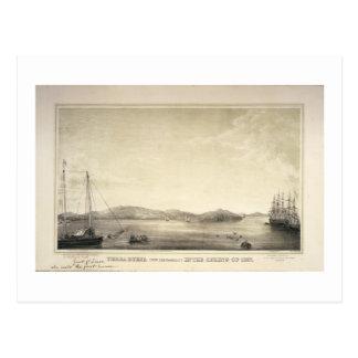 Primavera 1837 de Yerba Buena (ahora San Francisco Tarjeta Postal