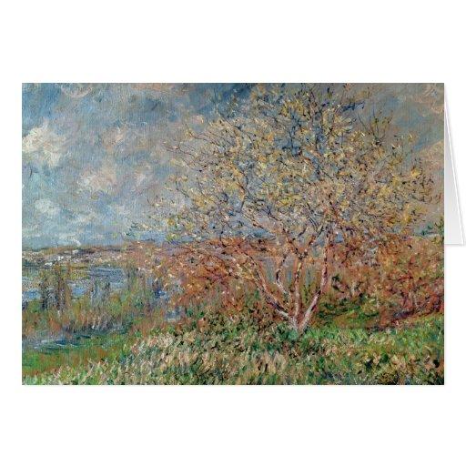 Primavera, 1880-82 tarjeta de felicitación