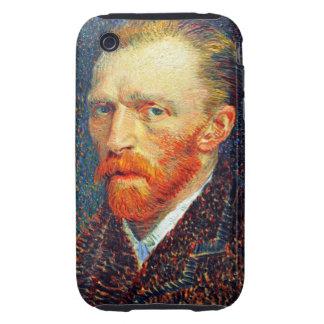 Primavera 1887 del autorretrato de Van Gogh Funda Though Para iPhone 3