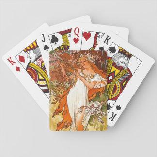 Primavera 1896 cartas de póquer