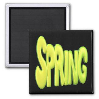 Primavera 1 imán cuadrado