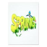 Primavera 3 invitación 12,7 x 17,8 cm